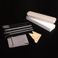 Stainless Steel Cutlery Set with Straw in Wheat Case