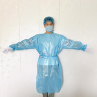 (SG Ready Stock) Quality PE Material Waterproof Disposable Iso Gown