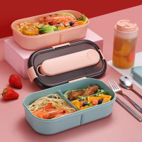 Portable Microwavable 3-Compartment Lunch Box (Individual Cutlery Set Case)