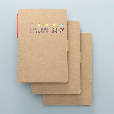 Kraft Eco Notepad with Pen