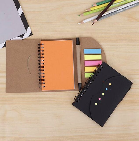 Recycled Eco-Friendly Notebook with Pen
