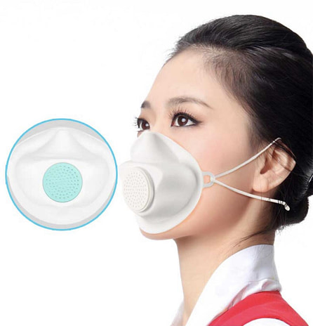 NEW - KN95 with Filters Rubber Protective Respirator (Test Report & CE)