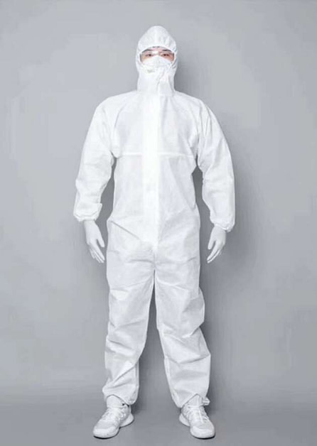 PPE Disposable Protective Clothing Siamese Full Body With Cap